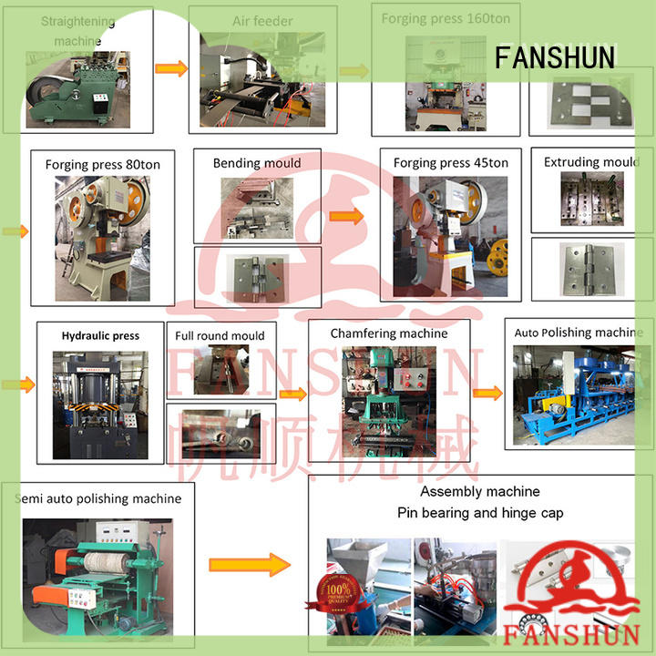 equipment automatic stainless steel hinge production line for Door hinge production line in workhouse FANSHUN