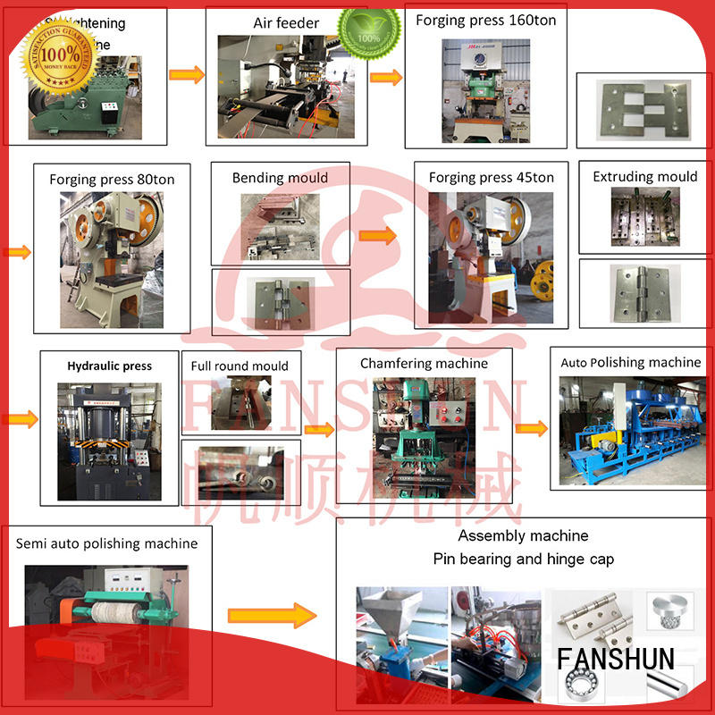 FANSHUN steel Iron hinge making machine for brass production in industrial park
