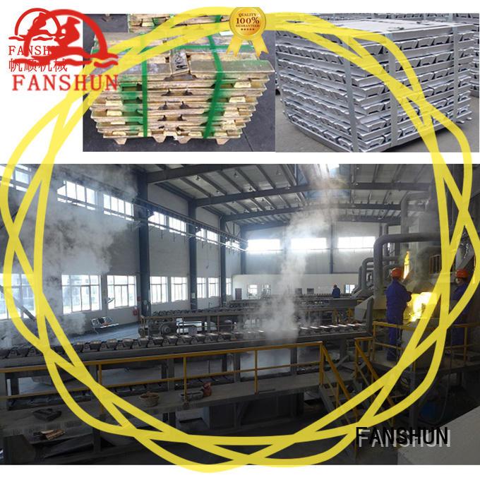 cutting brass ingot casting in industrial park FANSHUN