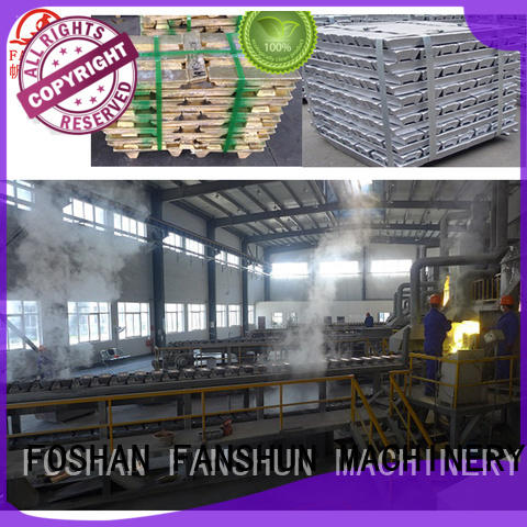 machine temperature FANSHUN Brand aluminium melting furnace